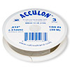 Beading wire, Acculon®, nylon-coated stainless steel, gold color, 3 strand, 0.012-inch diameter. Sold per 100-foot spool.