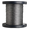 Beading wire, Tigertail™, nylon-coated stainless steel, clear, 3 strand, 0.012-inch diameter. Sold per 1,000-foot spool.