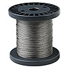 Beading wire, Tigertail™, nylon-coated stainless steel, clear, 7 strand, 0.012-inch diameter. Sold per 1,000-foot spool.