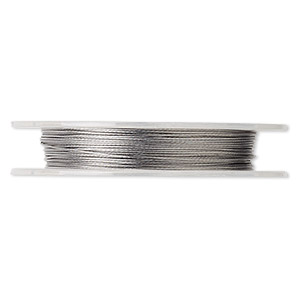 Beading wire, Tigertail™, nylon-coated stainless steel, clear, 7 strand, 0.015-inch diameter. Sold per 100-foot spool.