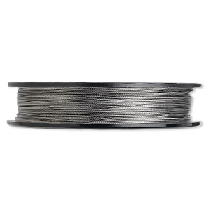 Beading wire, Tigertail™, nylon-coated stainless steel, clear, 7 strand, 0.022-inch diameter. Sold per 30-foot spool.
