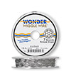 Beading wire, Wonder Wiggle Wire®, stainless steel and nylon, clear, 0.02-inch diameter. Sold per 15-foot spool.