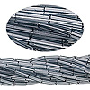 Bugle bead, Preciosa Czech glass, transparent grey, #3 with round hole. Sold per 1/2 kilogram pkg.