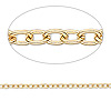 Chain, gold-plated brass, 3x2.5mm cable. Sold per pkg of 50 feet.
