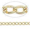 Chain, gold-plated brass, 6.5x4mm twisted oval cable. Sold per pkg of 50 feet.