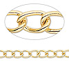 Chain, gold-plated brass, 7x5mm twisted cable. Sold per pkg of 50 feet.