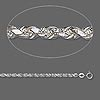 Chain, sterling silver, 3.75mm French rope, 18 inches. Sold individually.