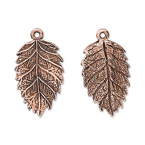 13x13mm 20 Antiqued Copper Plated Pewter Maple LEAF Charms