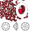 Chaton, Swarovski crystal rhinestone, Crystal Passions®, Indian Siam, foil back, 4-4.1mm Xirius round (1088), PP32. Sold per pkg of 12.