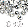 Chaton, Swarovski crystal rhinestone, Crystal Passions®, crystal blue shade, foil back, 8.16-8.41mm faceted Xirius round (1088), SS39. Sold per pkg of 48.