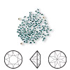 Chaton, Swarovski crystal rhinestone, Crystal Passions®, light turquoise, foil back, 1.5-1.6mm Xilion round (1028), PP9. Sold per pkg of 144 (1 gross).