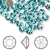 Chaton, Swarovski crystal rhinestone, Crystal Passions®, light turquoise, foil back, 6.14-6.32mm faceted Xirius round (1088), SS29. Sold per pkg of 144 (1 gross).