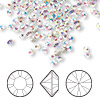 Chaton, Swarovski crystal rhinestone, crystal AB, foil back, 2.8-2.9mm Xilion round (1028), PP22. Sold per pkg of 1,440 (10 gross).