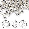 Chaton, Swarovski crystal rhinestone, crystal clear, foil back, 4.0-4.1mm Xilion round (1028), PP32. Sold per pkg of 144 (1 gross).