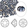 Chaton, Swarovski crystal rhinestone, denim blue, foil back, 3-3.2mm Xilion round (1028), PP24. Sold per pkg of 1,440 (10 gross).