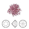 Chaton, Swarovski crystal rhinestone, rose, foil back, 1.5-1.6mm Xilion round (1028), PP9. Sold per pkg of 12.