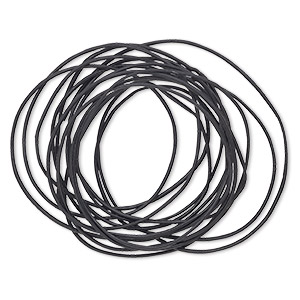 Cord, Greek leather, black, 1mm round. Sold per 3-yard sections.