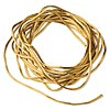 Cord, Satinique™, satin, antique gold, 1mm mini. Sold per pkg of 10 feet.