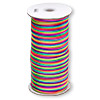 Cord, Satinique™, satin, confetti, 2mm regular. Sold per 432-foot spool.