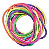 Cord, Satinique™, satin, confetti, 2mm regular. Sold per pkg of 10 feet.