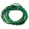 Cord, Satinique™, satin, dark green, 1.5mm small. Sold per pkg of 10 feet.