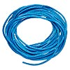 Cord, Satinique™, satin, dark turquoise blue, 1.5mm small. Sold per pkg of 10 feet.