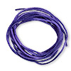 Cord, Satinique™, satin, purple, 1.5mm small. Sold per pkg of 10 feet.