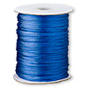 Cord, Satinique™, satin, royal blue, 1.5mm small. Sold per 432-foot spool.