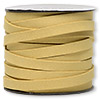 Cord, faux suede lace, tan, 10mm. Sold per 25-yard spool.