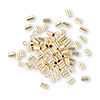 Crimp bead, 12Kt gold-filled, 3x2mm smooth tube, 1.3mm inside diameter. Sold per pkg of 100.