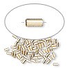 Crimp bead, 14Kt gold-filled, 3x1.6mm smooth round tube, 1.1mm hole. Sold per pkg of 10.