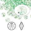 Drop, Swarovski crystal, Crystal Passions®, chrysolite, 6mm Xilion rivoli pendant (6428). Sold per pkg of 144 (1 gross).