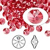 Drop, Swarovski crystal, Indian pink, 6mm Xilion rivoli pendant (6428). Sold per pkg of 144 (1 gross).