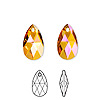 Drop, Swarovski crystal, crystal astral pink, 16x9mm faceted pear pendant (6106). Sold per pkg of 144 (1 gross).