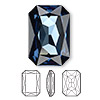 Embellishment, Swarovski crystal rhinestone, Crystal Passions®, Montana, foil back, 27x18.5mm faceted emerald-cut fancy stone (4627). Sold individually.