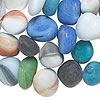 Embellishment mix, beach glass, mixed frosted colors, undrilled medium nugget. Sold per 500-gram pkg, approximately 50-60 pieces.