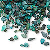 Embellishment, turquoise (dyed / stabilized), undrilled mini chip. Sold per 50-gram pkg.