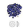 Flat back, Swarovski crystal rhinestone, Crystal Passions®, cobalt, foil back, 2.1-2.3mm Xilion rose (2058), SS7. Sold per pkg of 144 (1 gross).
