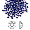 Flat back, Swarovski crystal rhinestone, Crystal Passions®, cobalt, foil back, 2.5-2.7mm Xilion rose (2028), SS9. Sold per pkg of 144 (1 gross).