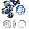 Flat back, Swarovski crystal rhinestone, Crystal Passions®, crystal AB, foil back, 10mm solaris (2611). Sold per pkg of 24.