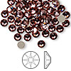 Flat back, Swarovski crystal rhinestone, Crystal Passions®, crystal antique pink, foil back, 4.6-4.8mm Xilion rose (2058), SS20. Sold per pkg of 144 (1 gross).