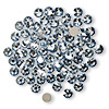 Flat back, Swarovski crystal rhinestone, Crystal Passions®, crystal blue shade, foil back, 3.8-4mm Xilion rose (2058), SS16. Sold per pkg of 12.