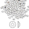Flat back, Swarovski crystal rhinestone, Crystal Passions®, crystal clear, foil back, 2.5-2.7mm Xilion rose (2058), SS9. Sold per pkg of 144 (1 gross).