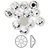 Flat back, Swarovski crystal rhinestone, Crystal Passions®, crystal clear, foil back, 7.07-7.27mm Xilion rose (2058), SS34. Sold per pkg of 12.