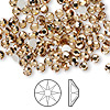 Flat back, Swarovski crystal rhinestone, Crystal Passions®, light Colorado topaz, foil back, 3.8-4mm Xilion rose (2058), SS16. Sold per pkg of 144 (1 gross).