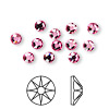 Flat back, Swarovski crystal rhinestone, Crystal Passions®, rose, foil back, 4.6-4.8mm Xilion rose (2058), SS20. Sold per pkg of 12.