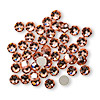 Flat back, Swarovski crystal rhinestone, Crystal Passions®, rose peach, foil back, 4.6-4.8mm Xilion rose (2058), SS20. Sold per pkg of 12.