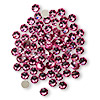 Flat back, Swarovski crystal rhinestone, rose, foil back, 3.8-4mm Xilion rose (2058), SS16. Sold per pkg of 12.