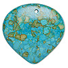 "Focal, mosaic ""turquoise"" (dyed / assembled), blue, 40x40mm top-drilled teardrop, C grade, Mohs hardness 3-1/2 to 4. Sold individually."