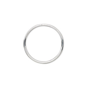 10 Sterling Silver jump rings 8 mm X 1 mm wire soldered.